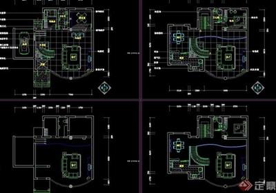 別墅室內設計cad方案