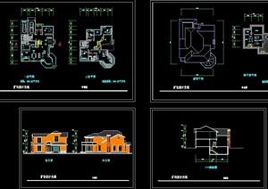 别墅一套建筑设计cad方案