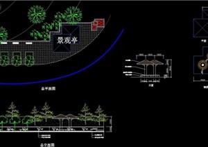 详细的组合亭设计cad施工图