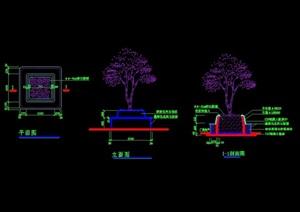 详细的完整树池设计cad施工图