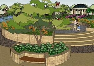 欧式风格公园小设计模型
