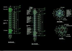 景观花柱设计cad施工图