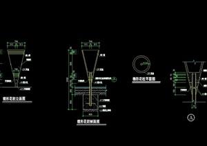 现代详细的花柱景观设计cad施工图