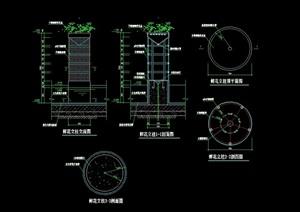 详细的花柱景观设计cad施工图
