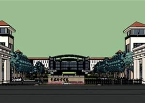 现代风格学校校园景观设计图