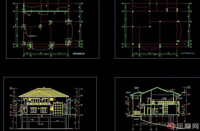 欧式详细的别墅方案建筑cad多层图柯桥1000的别墅万以上图片