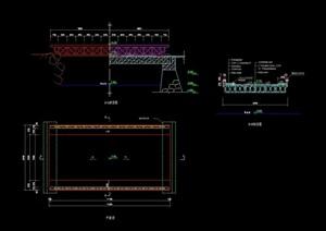 园桥详细及栏杆设计cad施工图