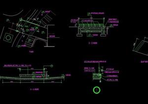 园桥详细设计cad平剖面图