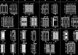 各类装饰门cad立面图集