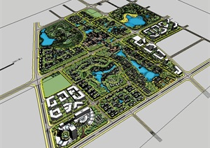 中式风格古城景观规划设计图