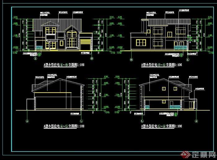 a型别墅设计cad施工图纸