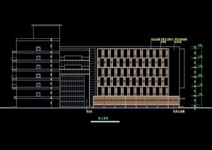 6层现代风格办公楼cad方案设计