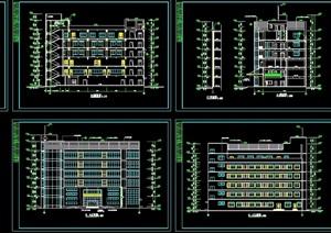 6层框架结构办公楼设计cad施工图