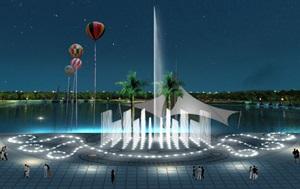 西哈努克古木酒店广场喷泉