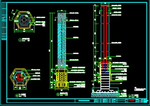新中式景观灯柱的细节做法详图,需要参考的请下载