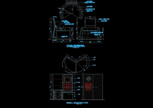移动通信体验台cad详图