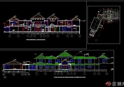 总统别墅建筑cad方案图