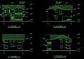某欧式多?#26893;?#21516;的别墅建筑设计cad施工图