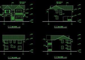 某歐式多種不同的別墅建筑設計cad施工圖