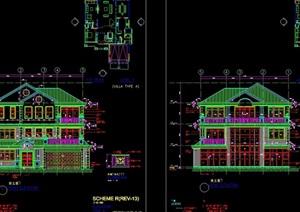 某住宅別墅花園A、C型cad施工圖