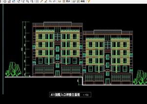 三種住宅別墅建筑設計cad方案及總圖