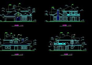 某多種別墅設計cad方案圖