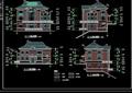 欧式三层别墅详细建筑设计cad施工图