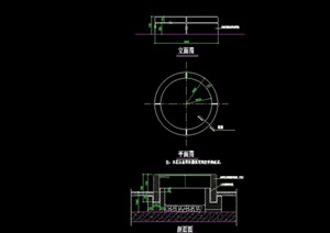 详细的完整花池设计cad施工图