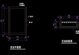 详细的整体花池设计cad施工图