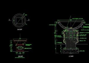 详细的花钵素材设计cad施工图
