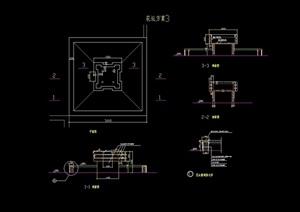 详细的花池设计cad施工图