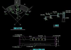 花池详细完整设计cad平立剖面图