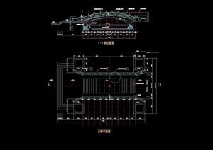 园桥石桥详细完整设计cad施工图