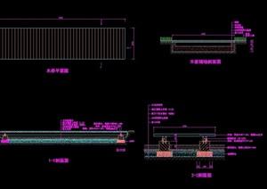 详细的园桥完整设计cad施工图