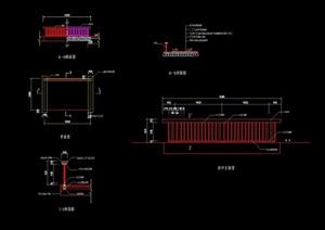 园桥及栏杆设计cad施工图