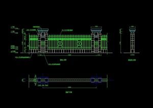 栏杆围墙详细设计cad施工图