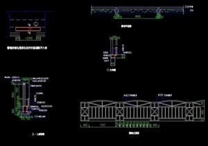 现代详细完整的围墙素材cad施工图
