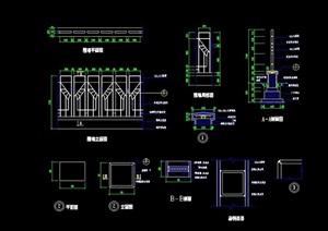 详细的围墙设计cad施工图
