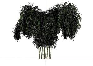 精美的竹子竹堆SU(草图大师)模型8
