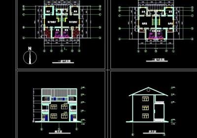 小别墅建筑cad方案图