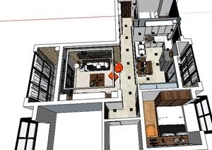 现代风格室内家装室内设计3d模型