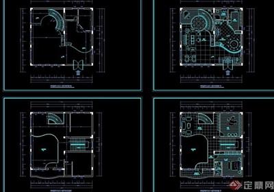 别墅建筑装修设计cad方案