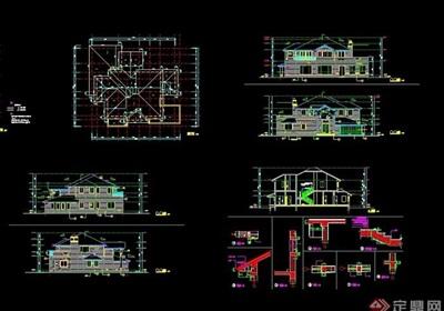 详细的室内别墅家装cad施工图
