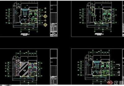 详细的完整整体D型别墅cad装修图