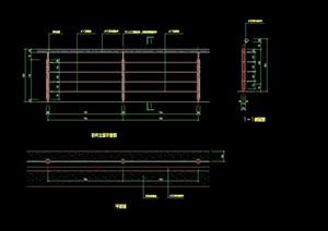 详细的园林景观节点栏杆设计cad施工图