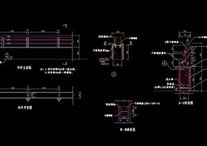 详细的整体栏杆设计cad施工图