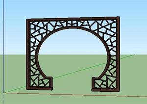 中式风格月亮门拱门