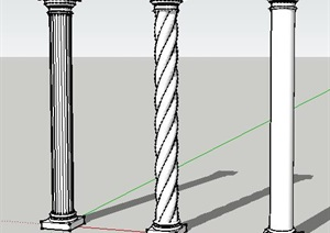 条罗马柱子SU(草图大师)模型