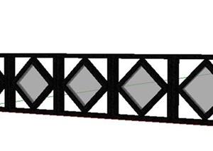 欧式风格栏杆护栏SU(草图大师)模型