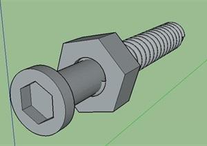 螺丝螺母模型